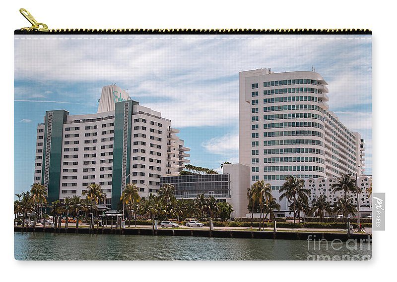 Eden Roc Hotel Carry-all Pouch featuring the photograph Eden Roc Hotel by Rene Triay Photography