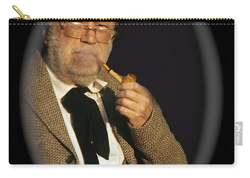 Edgar Buchanan Old Tucson Arizona John Wayne Smoking Pipe Carry-all Pouch featuring the photograph Edgar Buchanan Old Tucson Arizona 1971-2009 by David Lee Guss