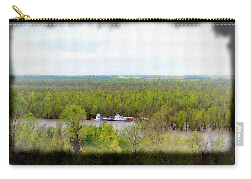Trees Carry-all Pouch featuring the photograph Edge Of Mississippi River by Bonnie Willis