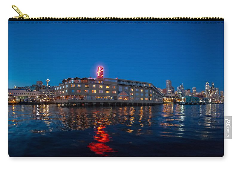 Seattle Carry-all Pouch featuring the photograph Edgewater The Big Red E by Scott Campbell