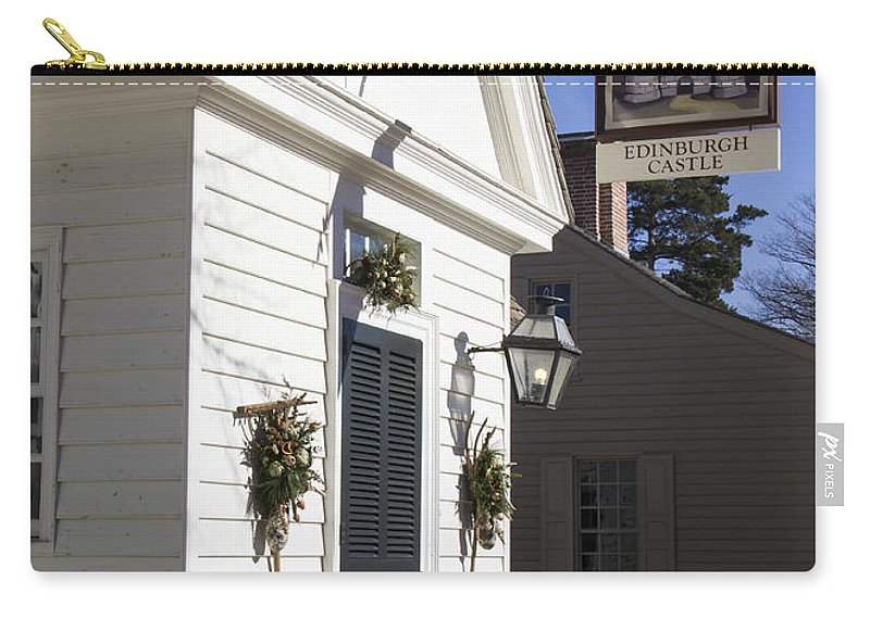 Colonial Carry-all Pouch featuring the photograph Edinburgh Castle Tavern by Teresa Mucha