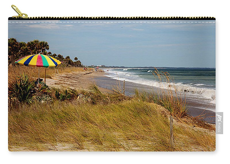Edisto Carry-all Pouch featuring the photograph Edisto Beach By Jan Marvin by Jan Marvin