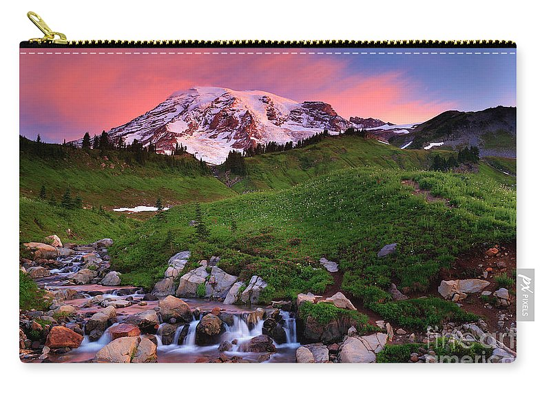America Carry-all Pouch featuring the photograph Edith Creek Sunrise by Inge Johnsson