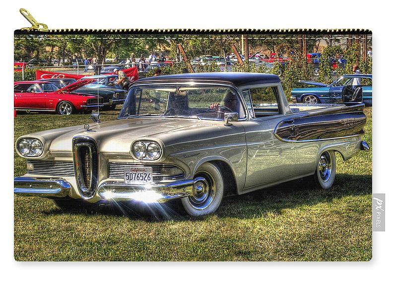 Car Carry-all Pouch featuring the photograph Edsel Ranchero by Bill Gallagher