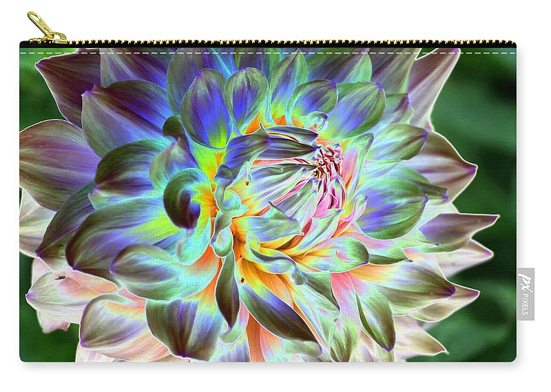 Dahlia Carry-all Pouch featuring the photograph Eerily Beauty by Christiane Schulze Art And Photography