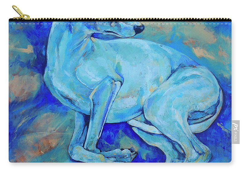 Dog Carry-all Pouch featuring the painting Effects Of Gravity-2 by Derrick Higgins