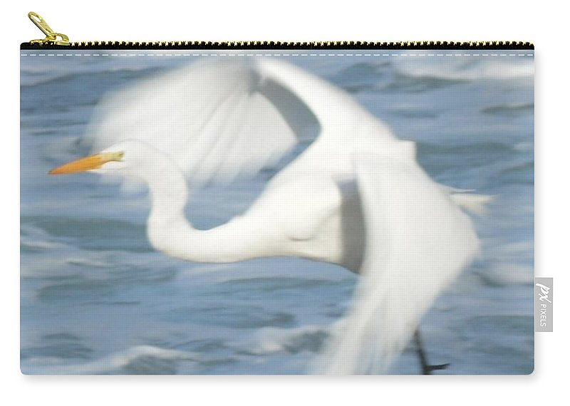Barbara Snyder Carry-all Pouch featuring the digital art Egert In Flight Detail by Barbara Snyder