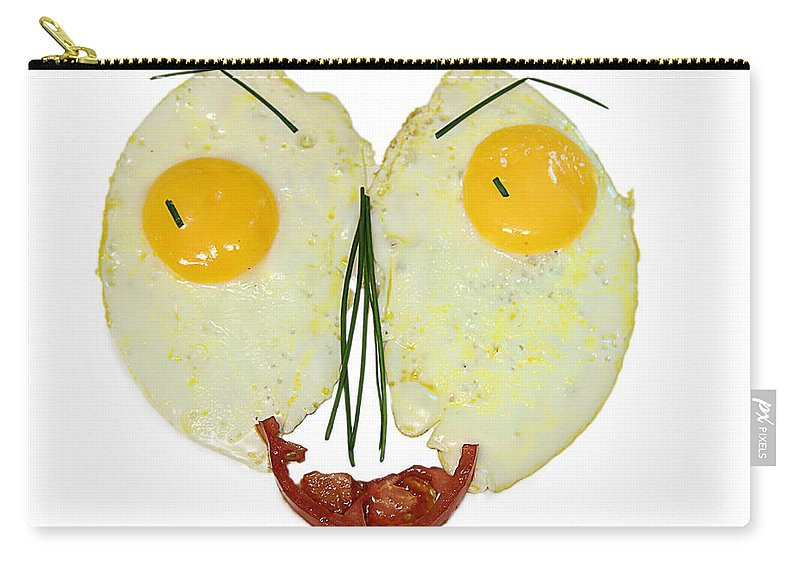 Egg Carry-all Pouch featuring the photograph Egg Face by Ronel Broderick