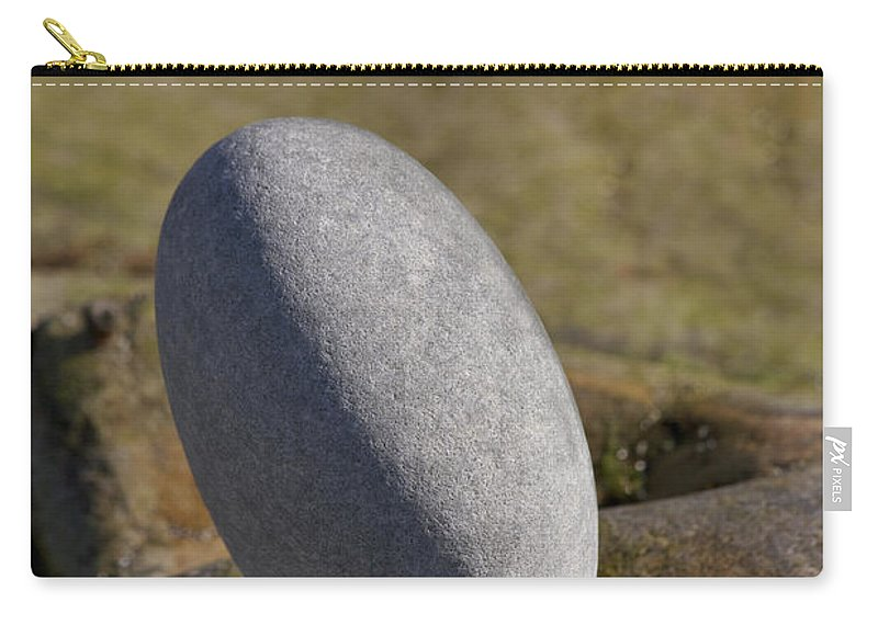 Heiko Carry-all Pouch featuring the photograph Egg-shaped Stone by Heiko Koehrer-Wagner
