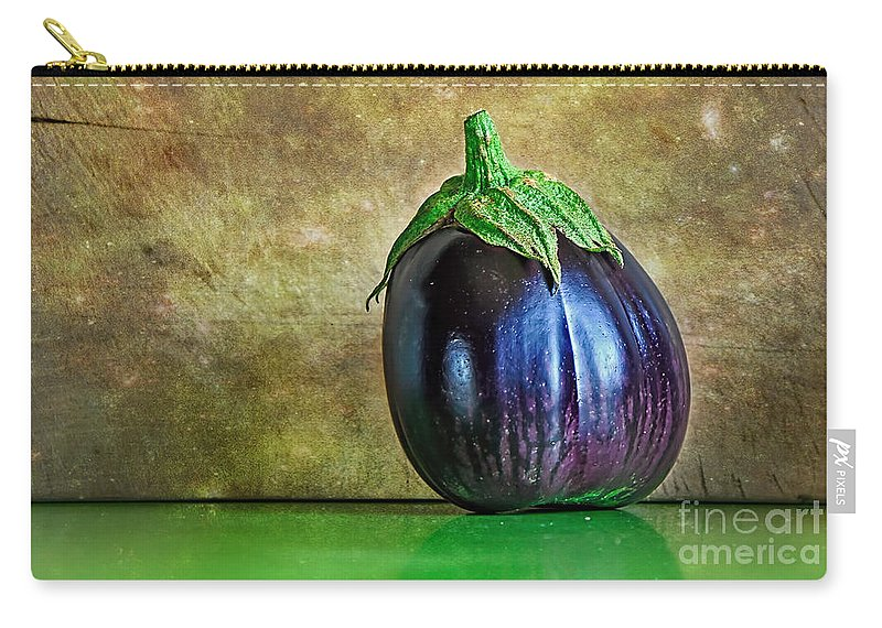 Eggplant Carry-all Pouch featuring the photograph Eggplant by Kaye Menner