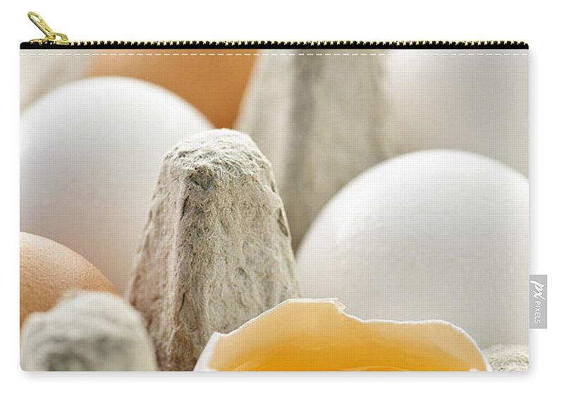 Eggs Carry-all Pouch featuring the photograph Eggs In Box by Elena Elisseeva