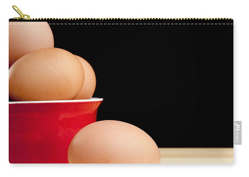 Agriculture Carry-all Pouch featuring the photograph Eggs On Bench by Tim Hester