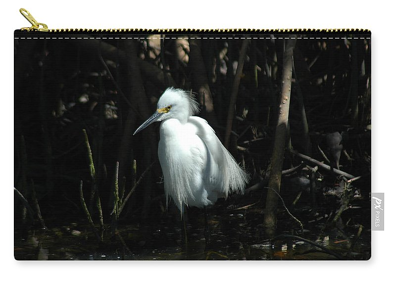 Egret Carry-all Pouch featuring the photograph Egret Of Sanibel 2 by David Weeks