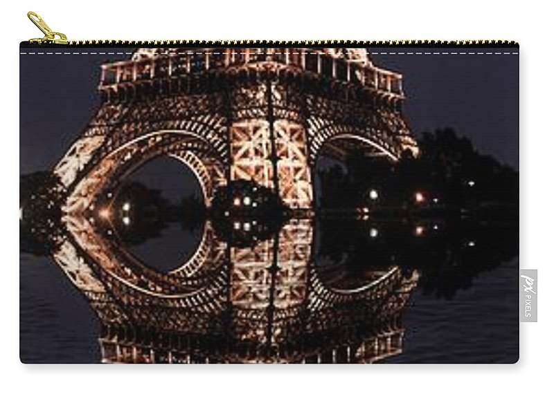 Carry-all Pouch featuring the photograph Eiffel Tower-2 by Bill Howard
