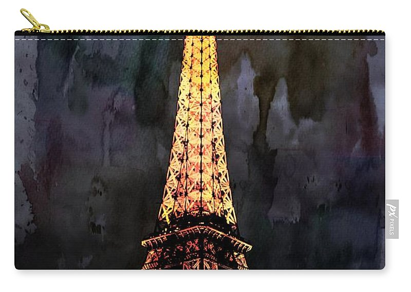 Carry-all Pouch featuring the photograph Eiffel Tower-3 by Bill Howard