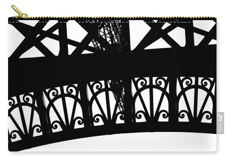 Eiffel Carry-all Pouch featuring the photograph Eiffel Tower Girders by Mary Bedy