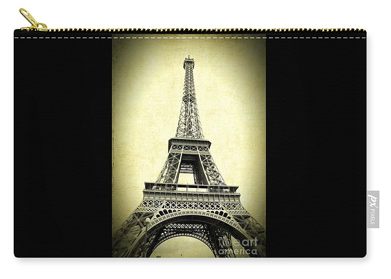 Eiffel Tower Carry-all Pouch featuring the photograph Mighty Eiffel Tower by Carol Groenen