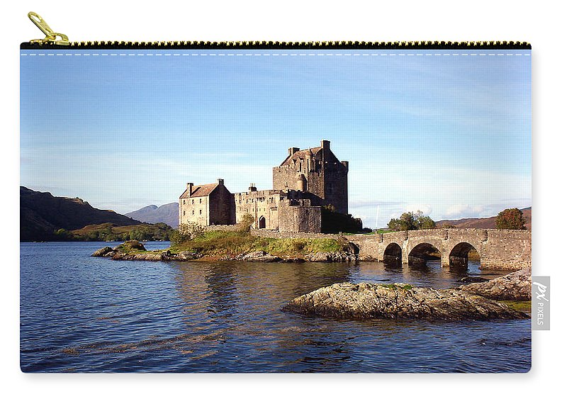 Clan Macrae Carry-all Pouch featuring the photograph Eilean Donan Castle Kintail Scotland by Rodger Insh