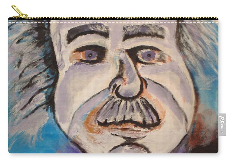 Rick Huotari Carry-all Pouch featuring the painting Einstein by Rick Huotari