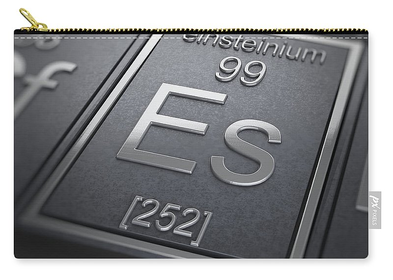Einsteinium Carry-all Pouch featuring the photograph Einsteinium Chemical Element by Science Picture Co