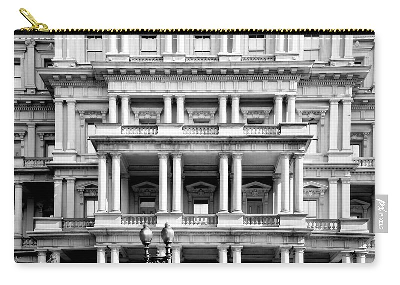 Arlington Cemetery Carry-all Pouch featuring the photograph Eisenhower Executive Building by Greg Fortier