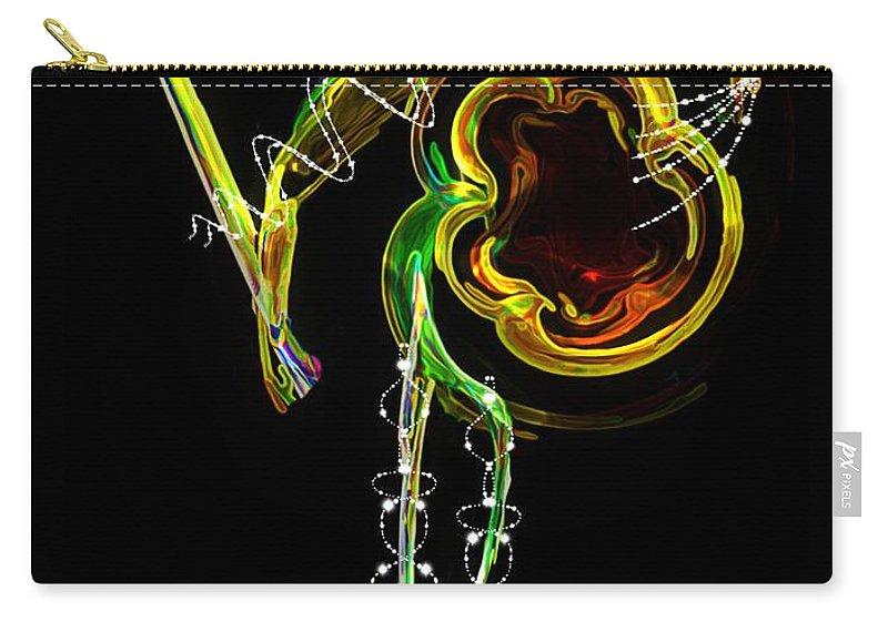 Matador Carry-all Pouch featuring the digital art El Asesino En Su Traje De Luces by RC DeWinter