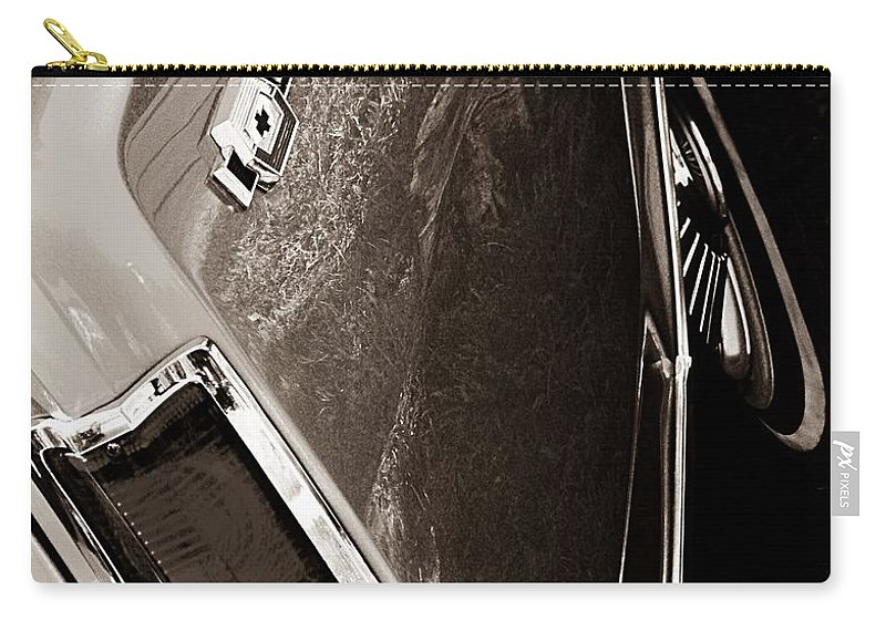 Chevrolet Carry-all Pouch featuring the photograph El Camino by Chris Berry