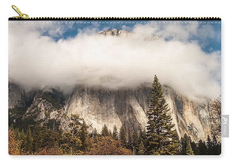 Yosemite National Park Carry-all Pouch featuring the photograph El Capitan by Muhie Kanawati