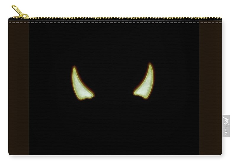 Solar Eclipse Carry-all Pouch featuring the photograph El Diablo by Angela J Wright