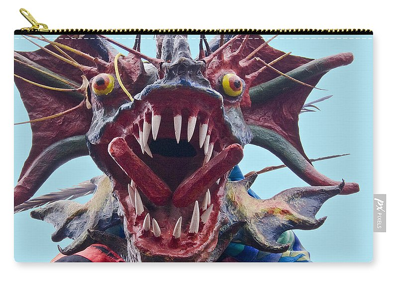 Mask Carry-all Pouch featuring the photograph El Diablo by Heiko Koehrer-Wagner