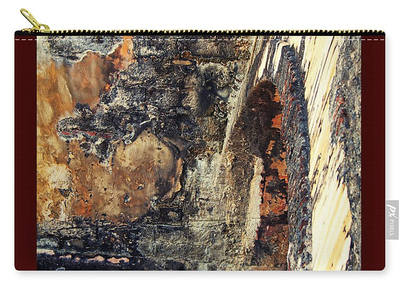 El Morro Carry-all Pouch featuring the photograph El Morro Arch With Border by Lucy VanSwearingen