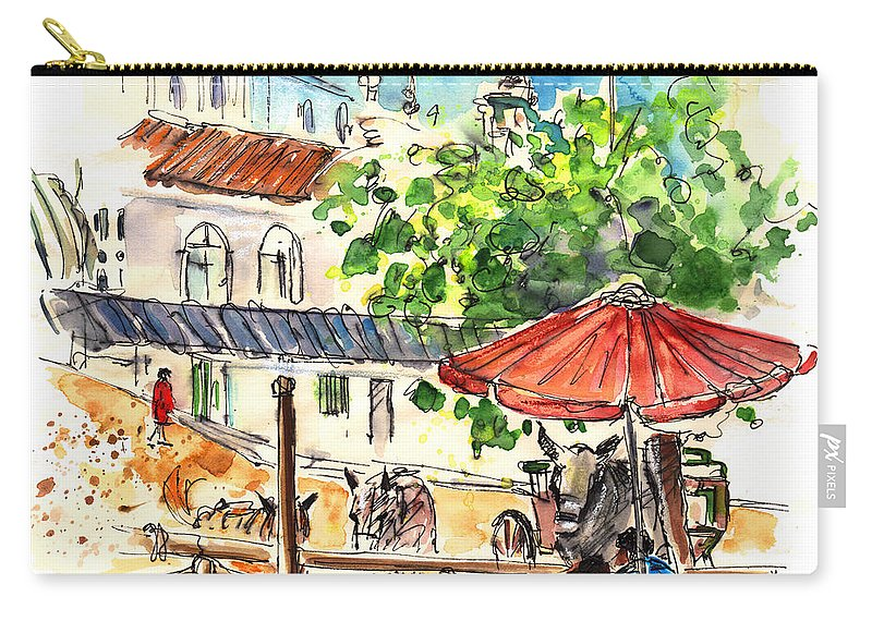 Travel Carry-all Pouch featuring the painting El Rocio 01 by Miki De Goodaboom
