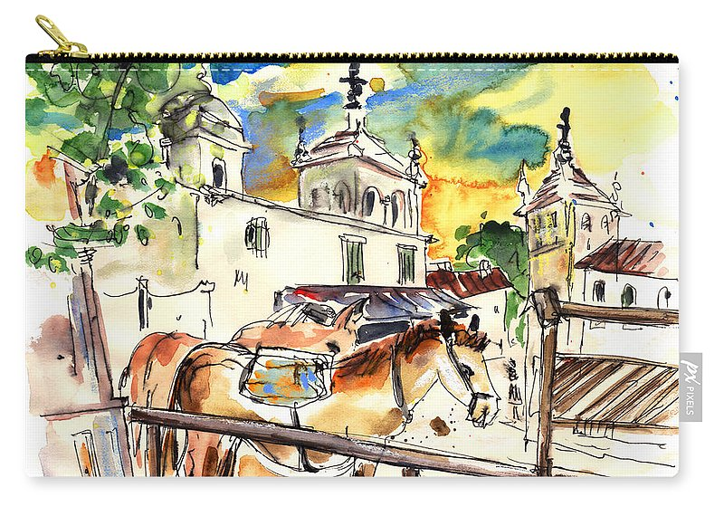 Travel Carry-all Pouch featuring the painting El Rocio 02 by Miki De Goodaboom