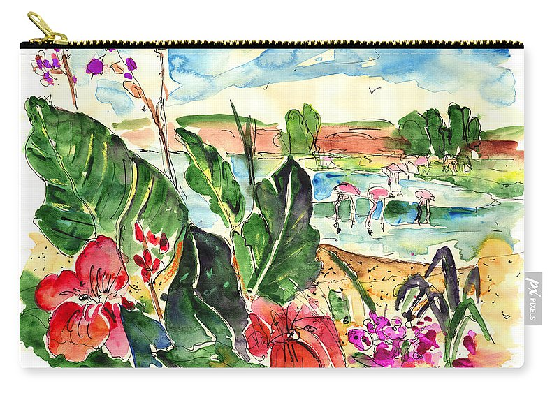 Travel Carry-all Pouch featuring the painting El Rocio 06 by Miki De Goodaboom