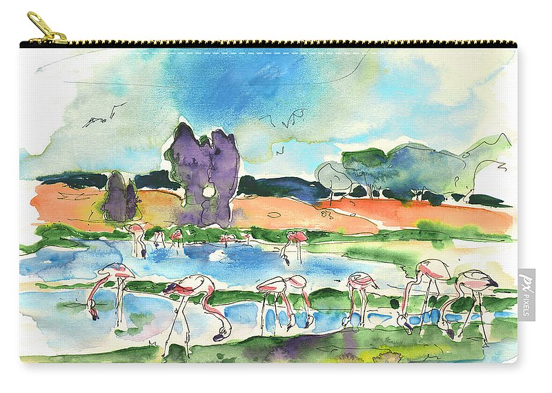 Travel Carry-all Pouch featuring the painting El Rocio 08 by Miki De Goodaboom