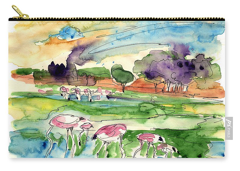 Travel Carry-all Pouch featuring the painting El Rocio 09 by Miki De Goodaboom