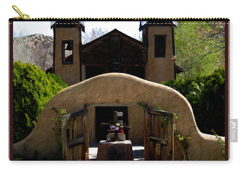 Santuario De Chimayo Carry-all Pouch featuring the photograph El Santuario De Chimayo by Kurt Van Wagner