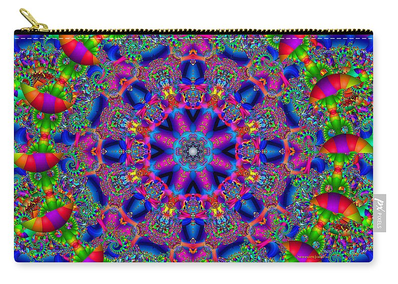 Office Carry-all Pouch featuring the digital art Elaborate Systems by Robert Orinski