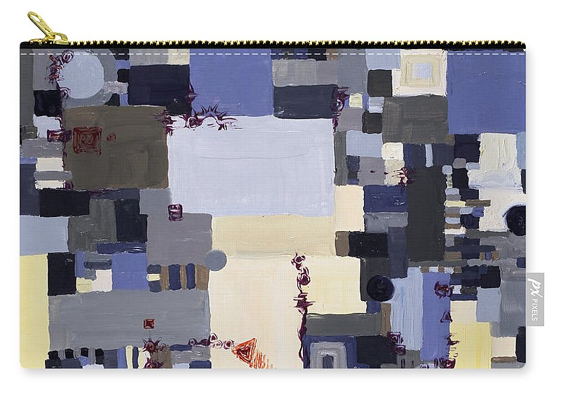 Grid Carry-all Pouch featuring the painting Elastic Dialog by Regina Valluzzi