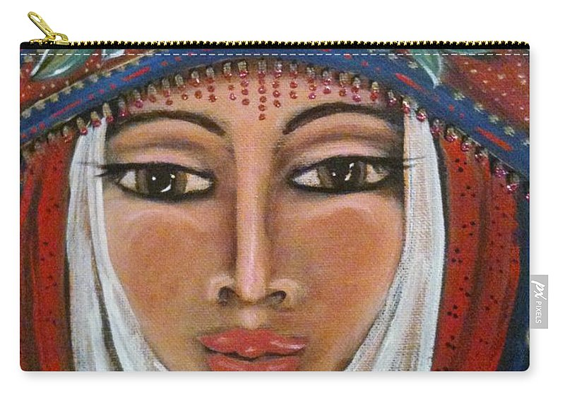 Energy Carry-all Pouch featuring the painting Eleanor Of Aquitaine The Lioness In Winter by Maya Telford