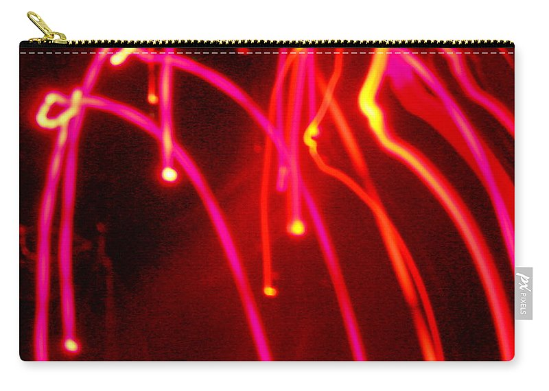 Abstract Carry-all Pouch featuring the photograph Electric Rain by James Welch