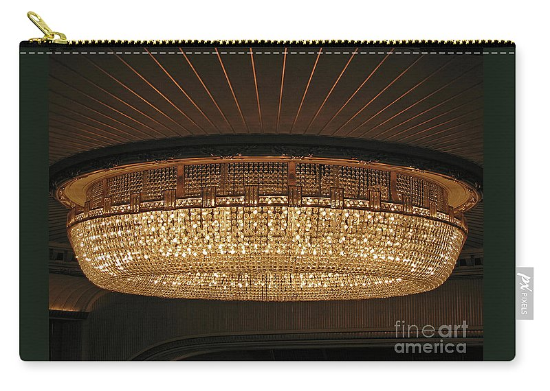 Chandelier Carry-all Pouch featuring the photograph Elegance by Ann Horn