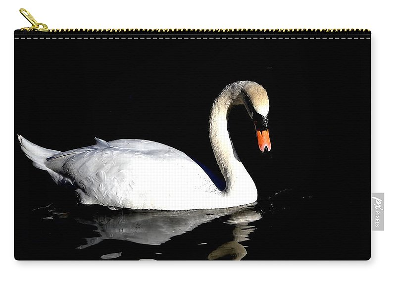 Swan Carry-all Pouch featuring the photograph Elegance by Deena Stoddard