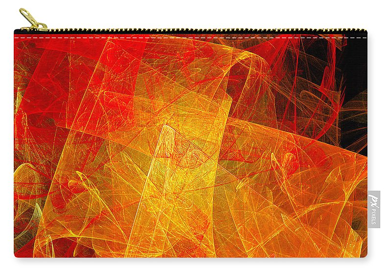 Andee Design Abstract Carry-all Pouch featuring the digital art Elegance Of The Sun by Andee Design