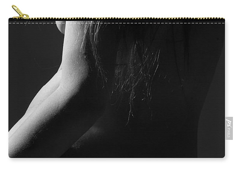 Black And White Carry-all Pouch featuring the photograph Elegant Contours by Joe Kozlowski