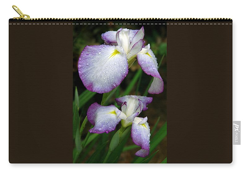 Iris Carry-all Pouch featuring the photograph Elegant Purple Iris by Marie Hicks
