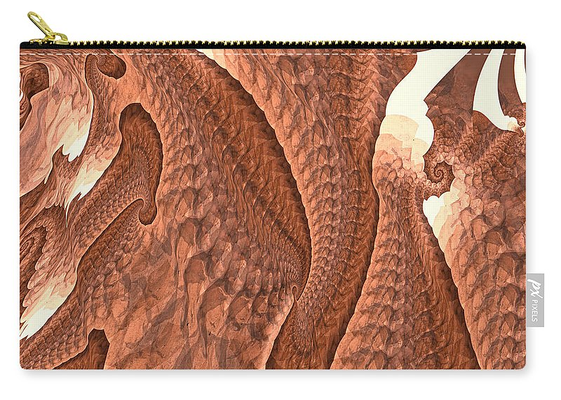 Trunk Carry-all Pouch featuring the digital art Elephant Love by Fran Riley
