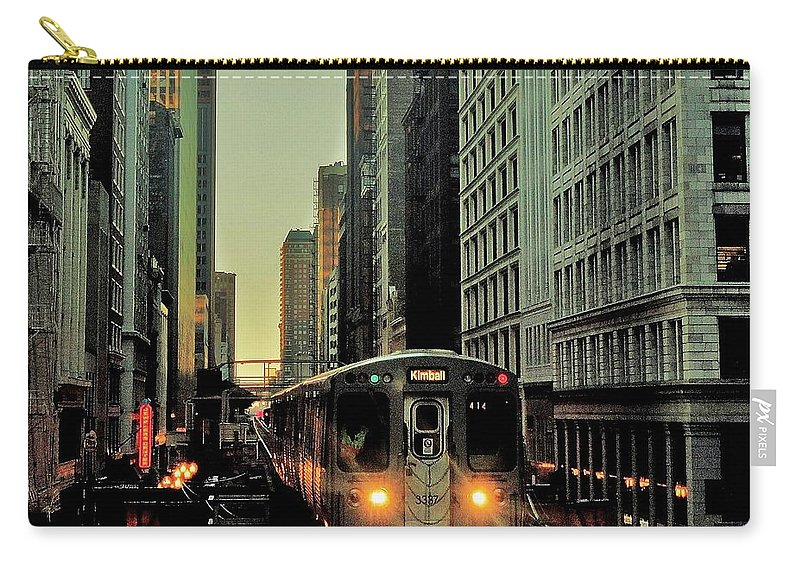 Chicago Carry-all Pouch featuring the photograph Elevated by Benjamin Yeager