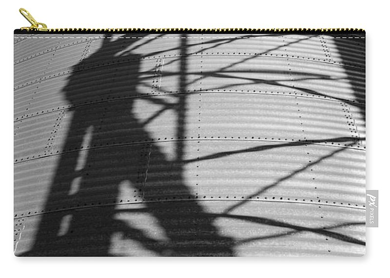 Silo Carry-all Pouch featuring the photograph Elevator Shadow by Paul DeRocker