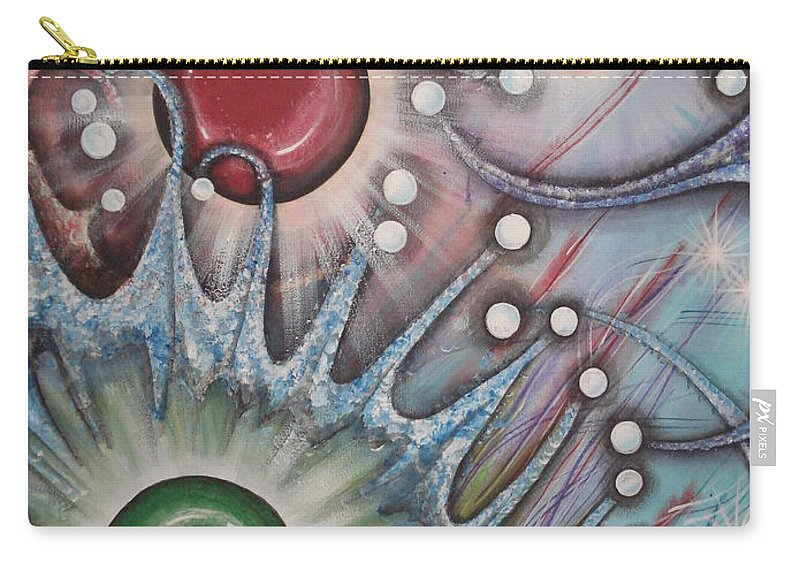 Abstract Carry-all Pouch featuring the painting Eleventh Dimension by Krystyna Spink
